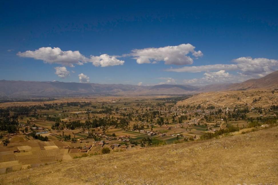 Vallée du Mantaro à 3000m au dessus des mers, dans les Andes péruviennes