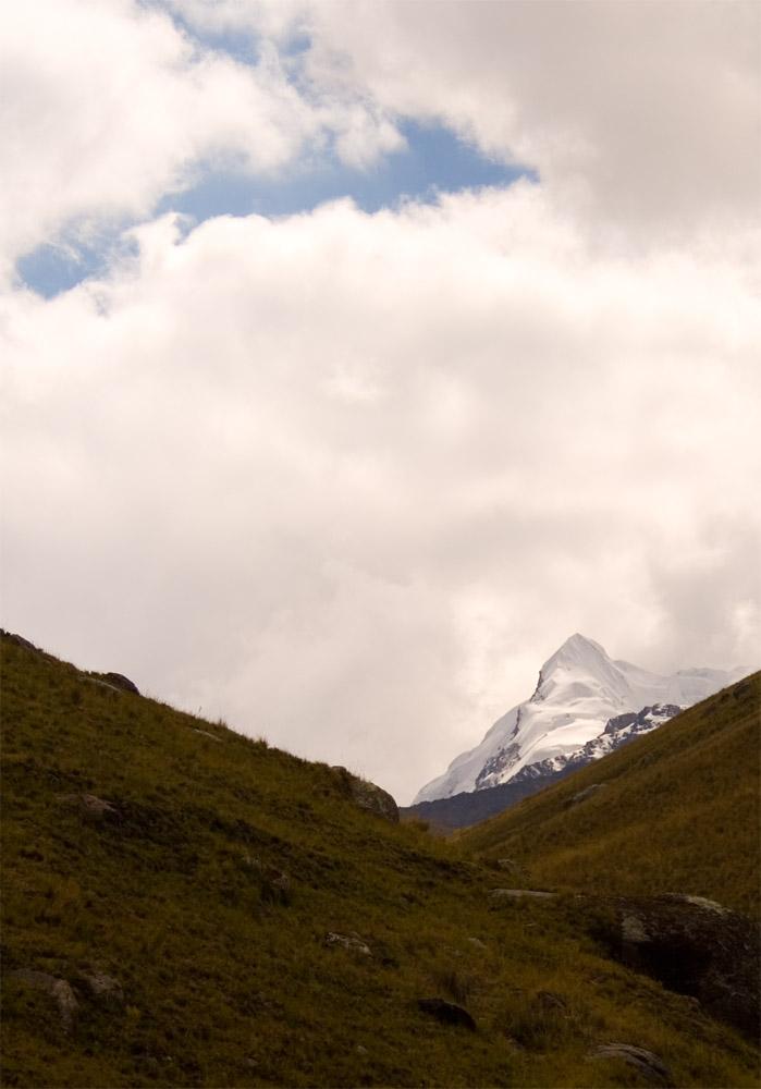 La seule photo du glacier que nous ayons pu prendre, faute au brouillard.