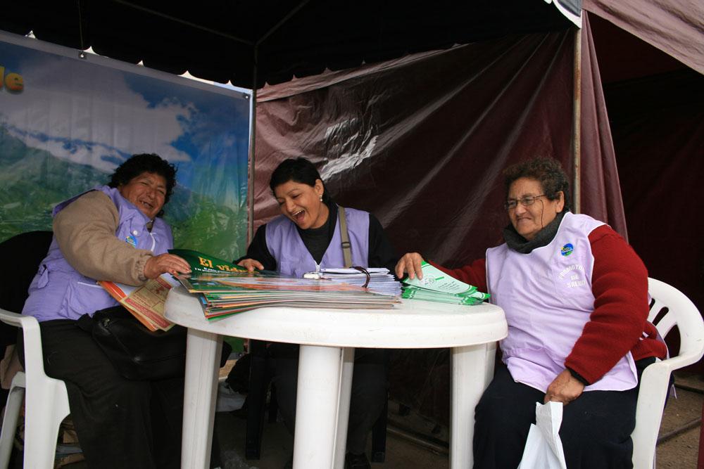 Les femmes du réseau de santé de l'arrondissement de Collique, où nous travaillons
