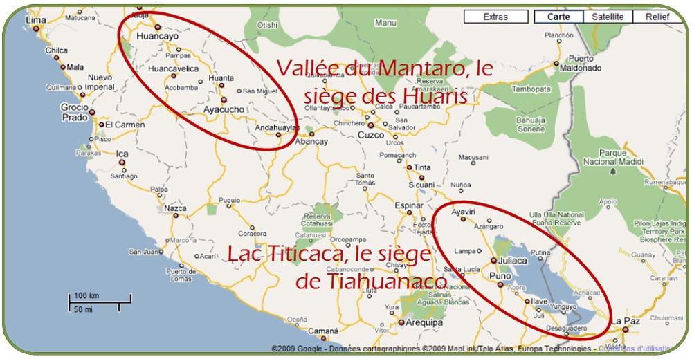 Vallée du Mantaro et le lac Titicaca