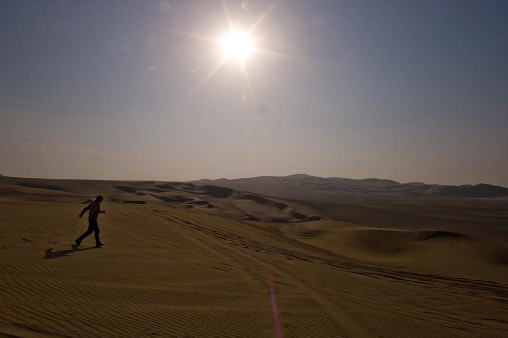 Desert d'Ica, dans le sud du Pérou