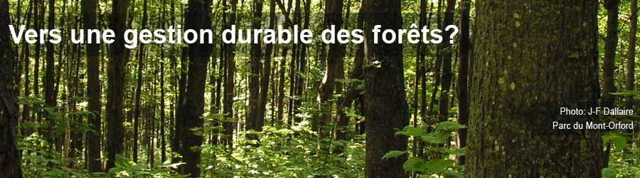 Vers une gestion durable des forêts - Entete 9
