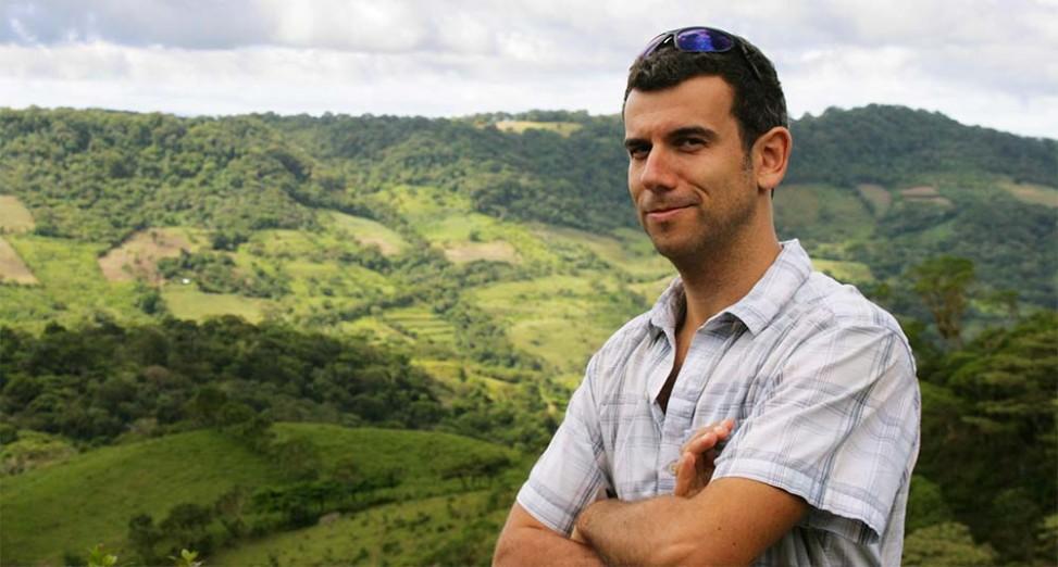 Jean-François Dallaire dans la réserve Miraflore, Nicaragua