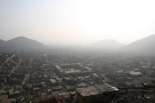 Collique - Sommet avec vue brumeuse