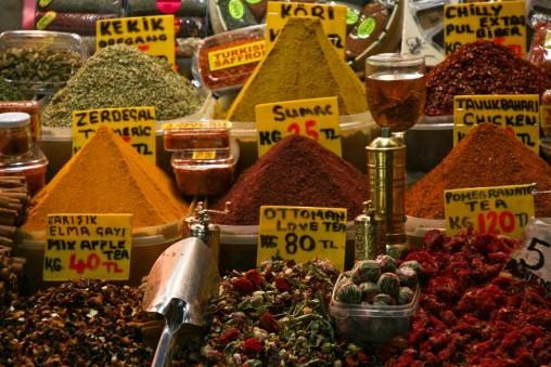 Marché aux épices à Istanbul